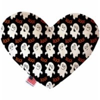 Mirage Pet 1335-CTYHT8 Little Boo Who Canvas Heart Dog Toy - 8 in.