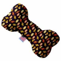 Mirage Pet 1344-CTYBN8 Halloween Candy Confetti Canvas Bone Dog Toy - 8 in. - 1