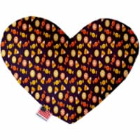 Mirage Pet 1344-CTYHT8 Halloween Candy Confetti Canvas Heart Dog Toy - 8 in. - 1