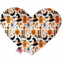 Mirage Pet 1357-CTYHT6 Classic Halloween Canvas Heart Dog Toy - 6 in. - 1