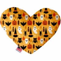 Mirage Pet 1358-CTYHT6 Happy Halloween Canvas Heart Dog Toy - 6 in. - 1