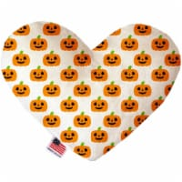 Mirage Pet 1360-CTYHT6 Happy Pumpkins Canvas Heart Dog Toy - 6 in.