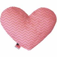 Mirage Pet 1374-CTYHT6 Valentines Day Chevron Canvas Heart Dog Toy - 6 in.