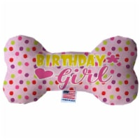 Mirage Pet 1387-TYBN6 Birthday Girl Fluffy Bone Dog Toy - 6 in. - 1