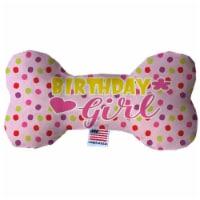 Mirage Pet 1387-TYBN8 Birthday Girl Fluffy Bone Dog Toy - 8 in. - 1