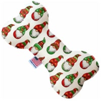 Mirage Pet Products 1400-SFTYBN8 8 in. Santa Gnomes Stuffing Free Bone Dog Toy