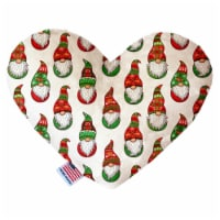 Mirage Pet Products 1400-SFTYHT6 6 in. Santa Gnomes Stuffing Free Heart Dog Toy