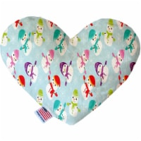 Mirage Pet Products 1401-SFTYHT6 6 in. Colorful Frosty Stuffing Free Heart Dog Toy
