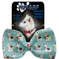 Mirage Pet Products 1402-BT Holiday Llamas Pet Bow Tie - 1
