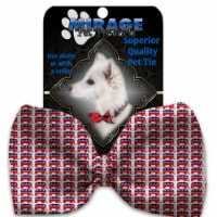 Mirage Pet Products 1396-VBT Republican Pet Bow Tie Collar Accessory with Cloth Hook & Eye - 1