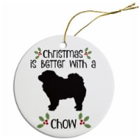 Mirage Pet Products ORN-R-B26 Round Breed Specific Christmas Ornament - Chow - 1