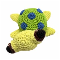 Mirage Pet 500-111 TUR Knit Knacks Squish the Sea Turtle Organic Cotton Dog Toy, Small - 1