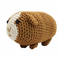 Mirage Pet 500-111 GPG Knit Knacks Goober the Guinea Pig Organic Cotton Dog Toy, Small - 1