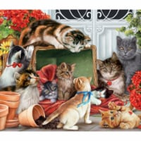 Vermont Christmas  Jigsaw Puzzle Garden Cats - 1000 Pieces - 1000