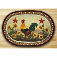 Oval Shaped Placemat, Morning Rooster