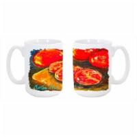 Vegetables - Tomatoes Slice It Up Dishwasher Safe Microwavable Ceramic Coffee Mug 15 oz. - 1