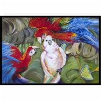 Menage-A-Trois Parrots Indoor & Outdoor Mat, 18 x 27 in.