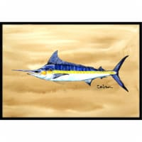 Swordfish On Sandy Beach Indoor & Outdoor Mat, 24 x 36 in. - 1