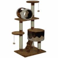 Light Weight Economical Cat Tree Furniture - Beige & Brown - 1