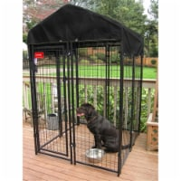 Lucky Dog 6'H x 4'W x 4'L Uptown Welded Wire Kennel w/Cover and Frame-