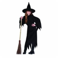 Witch Costume With Hat - Size Child Small 4-6 - 1