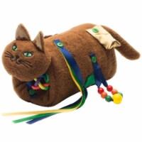 Cat Fidget & Comfort Muff, Chocolate Brown
