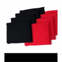 Black and Red Cornhole Bags, Set of 8