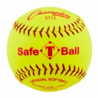 12 in. Safety Softball, Optic Yellow & Red
