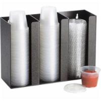 Lid & Ramekin Dispenser - Large - Black - 1