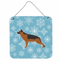 Winter Snowflake German Shepherd Wall or Door Hanging Prints - 1