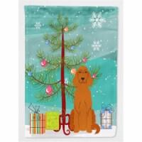 Merry Christmas Tree Irish Setter Flag Garden Size