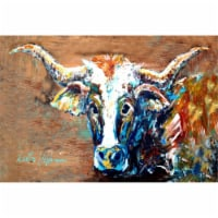 On The Loose Brown Cow Fabric Placemat - 1
