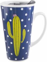Formation Brands Cactus Latte Mug - Blue/White/Green