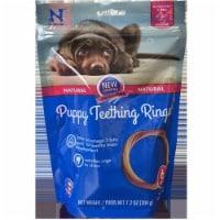 N-bone 67570124 Dog Puppy Ring Blueberry BBQ, Pack of 6 - 1