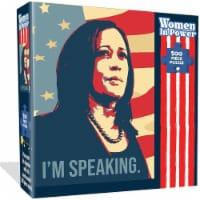 VP Kamala Harris 500pcs Jigsaw Puzzle Women in Power Illustration Design All Ages Mighty Mojo - 1 unit