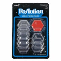 Super7 ReAction Action Figure Stands Heart Juice Red 10-Pack Exclusive Accessory - 1 unit