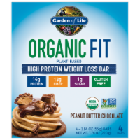 Garden of Life Organic Fit Peanut Butter Chocolate Bars