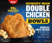 Hungry-Man Double Boneless Fried Chicken Bowls With White Cheddar Mac & Cheese Frozen Meal