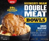Hungry-Man Double Meat Bowls Angus Meatloaf With Cheddar Cheese Grits Frozen Meal