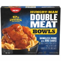 Hungry-Man Double Meat Boneless Pork with BBQ Sauce and Mac & Cheese Frozen Protein Bowl - 15 oz