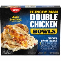 Hungry-Man Double Chicken Bacon Ranch Bowls With Mashed Potatoes Frozen Meal