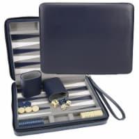 WE Games Magnetic Backgammon Set, Leatherette, Travel Size