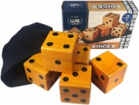 WE Games Giant Roll 'em Dice - Set of 5 Wooden Lawn Dice - 1 unit