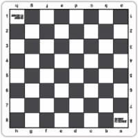 Bobby Fischer Tournament Mousepad Style Chess Board, 20 inches, Gray - 1 unit