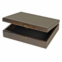 WE Games Old World Wooden Treasure Box with Brass Latch