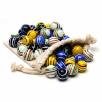 WE Games Assorted Stripe Glass Marbles for Solitaire - Set of 33 - 1 unit