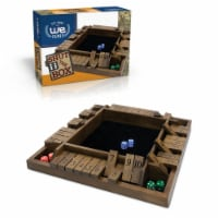 WE Games 4 Player Shut The Box(TM) Dice Game Walnut Stain Wood Travel Size-8 in