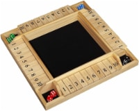 WE Games 4 Player Shut The Box(TM) Dice Game - Natural Wood, 14 in.