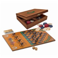 WE Games Grand National Horse Race Game in a Wooden Box