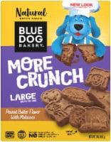 Blue Dog Bakery More Crunch Peanut Butter and Molasses Large Dog Treats
